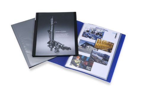 Rapesco 0910 Chemise de Présentation avec 20 Pochettes (40 Vues) A4 - Bleue