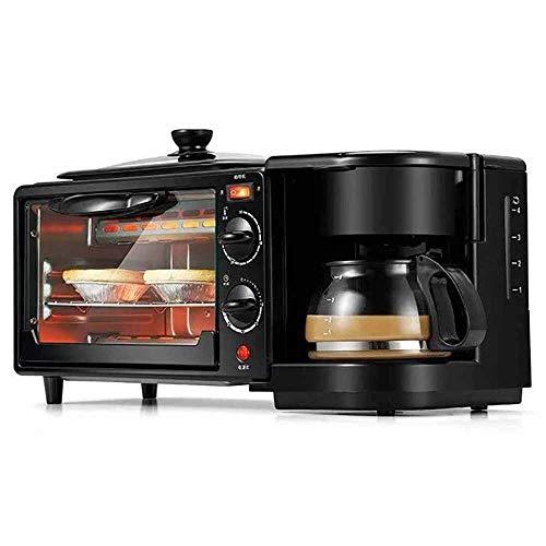 Elektro-Mini-Backofen mit Kochplatte Mehrere 3-in-1 Frühstück Maschine Kaffeemaschine Omelett 9L Garfunktionen Grill einstellbare Temperaturregelung Timer