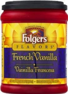 Fresh Taste of Folgers Coffee, French Vanilla Flavored Ground Coffee, Mellow & Smooth Flavor, 11.5 Oz Canister - (1 pk)