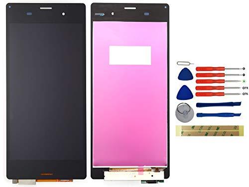 Yixi Bildschirm für Sony Xperia Z3 D6603 D6653 L55T Bildschirm Ersatzdisplay Schwarz LCD Touchscreen Display Ersatzteile No Rahmen
