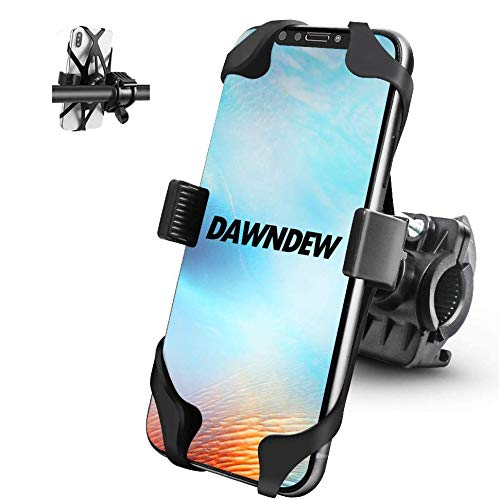 DAWNDEW New 2020 Bike & Motorcycle Phone Mount - Highly Adjustable Handlebar Phone Holder is Most Secure & Reliable for Bicycles Scooter Fits: iPhone11, XR, X, XS, 8, 8 Plus,Samsung and So On