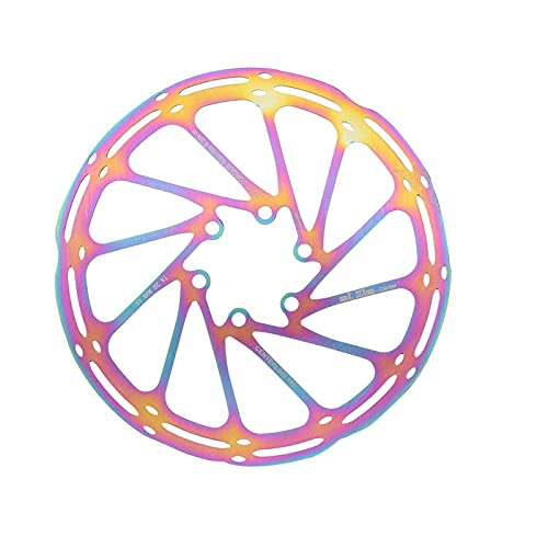 SZTUCCE Rainbow Mountain Bike Flotante Disc Freno Rotor con Tornillos de Acero Inoxidable MTB Bike Disc Freno Rotor (Color : 160mm)