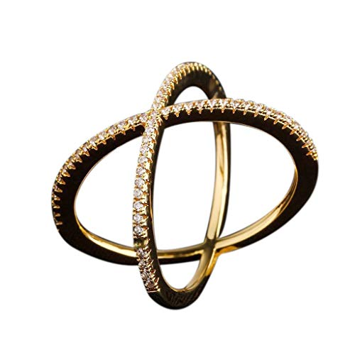 fasloyu Delicate Crisscross Scarf Ring As A Stylish Configuration For Fixing Scarf Tie Gifts for Girlfriend (Gold,6)