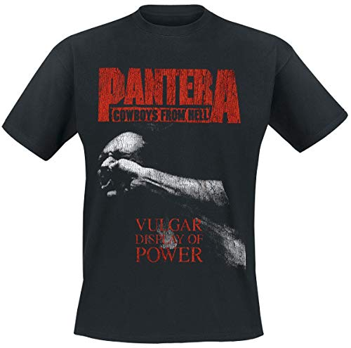 PANTERA Vulgar Display of Power Männer T-Shirt schwarz XL 100% Baumwolle Band-Merch, Bands