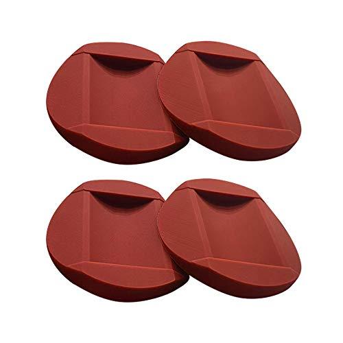 BOYUNLE 4 Stücke Gummi Möbeluntersetzer, Klavieruntersetzer, Bodenschutz Möbel Rutschfeste Tassen, Antirutsch Fußpolster für alle Böden und Räder, Möbel, Bett, Laufband (Braun)