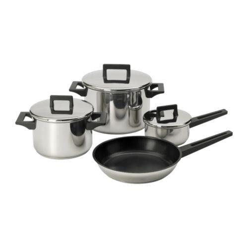 eLisa8 SNITSIG - 7-Piece Cookware SeT Stainless Steel