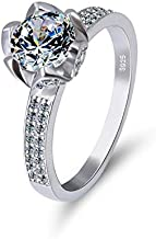 JRosee Promise Wedding Engagement Ring for Women Gift Jewelry