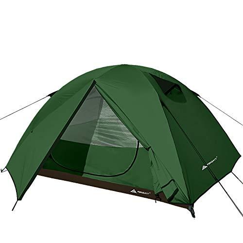 Forceatt Zelt 3 Personen Camping Wasserdicht 3-4 Saison,Ultraleicht Zelte Mit Kleinem Packmaß, Kuppelzelt Sofortiges Aufstellen Für Trekking, Outdoor, Festival.