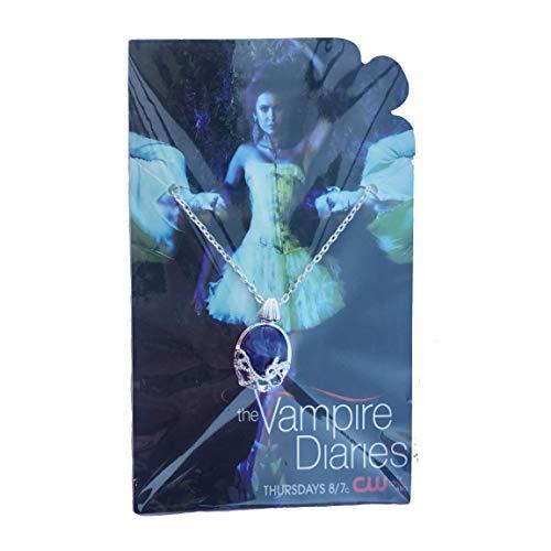 PRINCESS LOJA DE CORTÊNCIA The Vampire Diaries Katherine Pierce Prop Réplica Anti-Sunlight Natural Lapis Lazuli Stone Colar