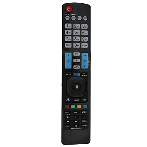 Reemplazo del Control Remoto 3D Smart APPS TV para LG AKB73756565 TV