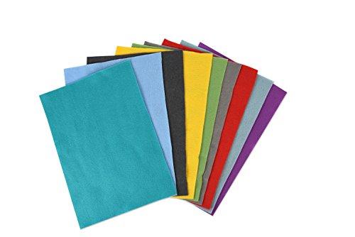 Sizzix Set 10 Fogli di Feltro, Multicolore, 29.7 x 21 x 2.3 cm