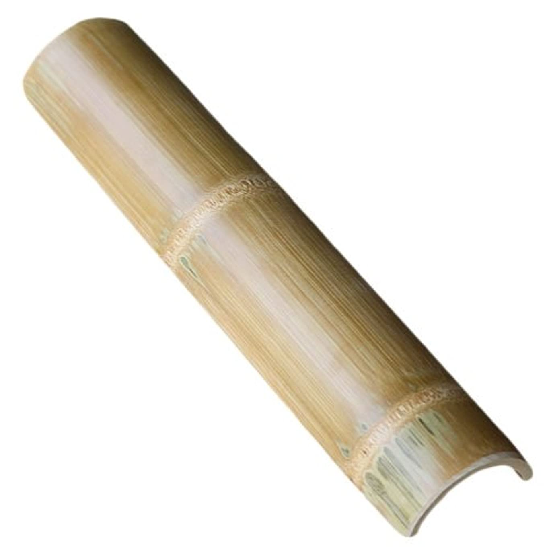 嘆願上げる凶暴な【国産】青竹を炭化加工して防虫、防カビ効果を向上させて美しく磨き上げています竹踏み(炭化竹)
