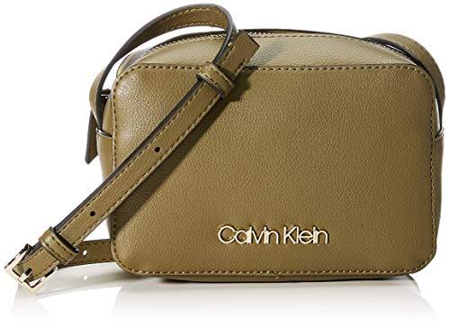Calvin Klein Damen Ck Must Psp20 Camerabag Umhängetasche, Grün (Drk Olive), 7x12x18 centimeters
