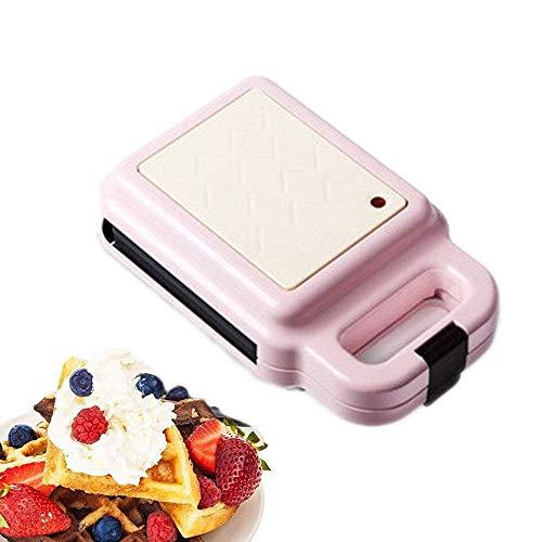 YFGQBCP Multifunción Mini Wafflera, Tostadora Sandwich 2 en 1 con Platos hondos Antiadherente, de Control de Temperatura automático, Parrilla eléctrica de Prensa Perfecto for Tostadas Cheese Snacks