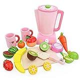 YYhkeby Juego de Juguetes de Corte de niños Juego de Juguetes de Madera con Fruta Vegetal Pretend Food Playset Cup para NIÑOS NIÑOS NIÑOS NIÑOS Muchachos DE Juego Educativo (Color al Azar) Jialele