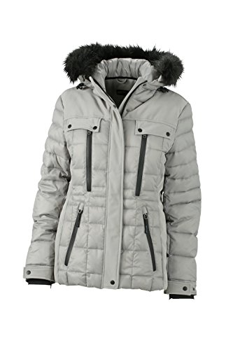James & Nicholson Damen Jacke Jacke Wintersport Jacket grau (Silver/Black) X-Large