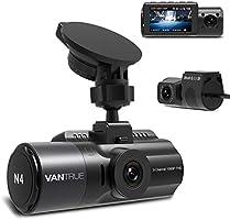 3カメラ ドライブレコーダー 1440P+1080P+1080P VANTRUE N4 4K高画質 24時間駐車監視 【史上最高画質】 3カメラ同時録画 4K+1080P 前後カメラ ステッカー付き 360度全方位保護 ドラレコ どらいぶ...
