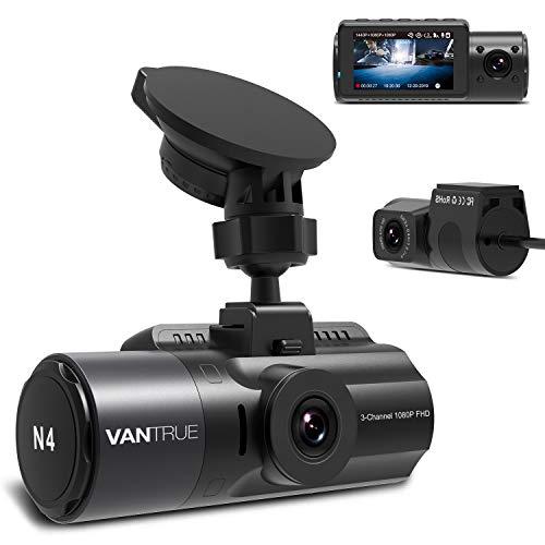 3カメラ ドライブレコーダー 4K高画質 1440P+1080P+1080P VANTRUE N4 【史上最高画質】 3カメラ同時録画 4K + 1080P 前後カメラ ステッカー付き 24時間駐車監視 360度全方位保護 ドラレコ どらいぶ レコーダー