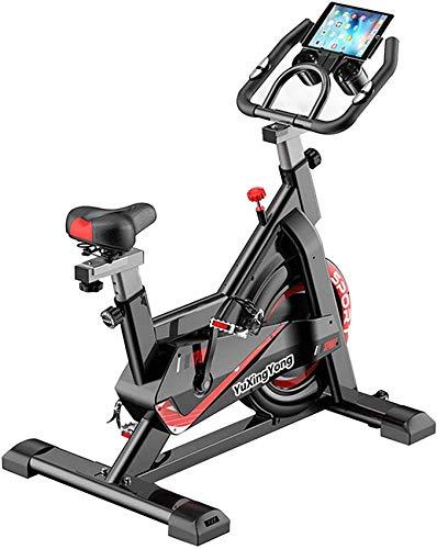 Bicicleta de ejercicios aeróbicos para interiores, rodamiento de carga de 150 kg, con soporte de tableta, muga en bicicleta de spinning para equipos de fitness para el hogar, bicicleta cardio Jialele