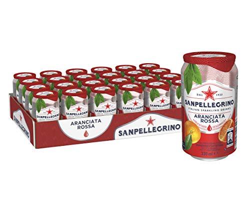 Sanpellegrino   Blutorangen Limonade   Aranciata Rossa   Hoher Fruchtanteil 20% aus Fruchtsaftkonzentraten   Leicht herbe Geschmacksnote   24er Pack (24 x 0,33l) Einweg Dosen