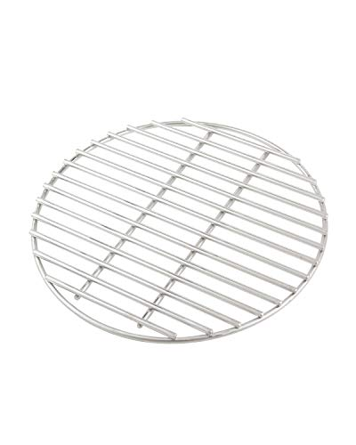 """12' BBQ High Heat Stainless Steel Charcoal Fire Grate Fits for Kamado Joe Big Joe Grill Fire Grate and Other Grill Parts Charcoal Grate Replacement Accessories (12"""") …"""