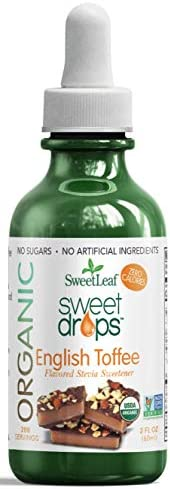 SweetLeaf Organic Sweet Drops English Toffee Flavored Stevia Sweetener 2 Oz product image