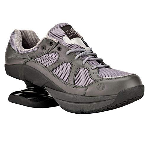 Z-CoiL Men's Liberty Slip Resistant Gray Leather Tennis...