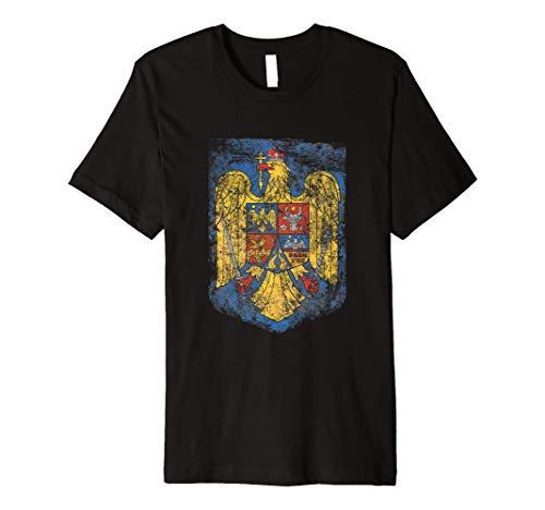 Romanian Pride Coat - of arms of Romania Heritage celtic Premium T-Shirt