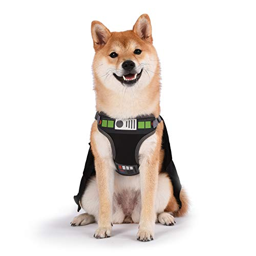 Star Wars Arreio para cães de cosplay Darth Vader para cães médios, médio (M)   Arnês preto médio para cães é fofo sem puxar com capuz   Fantasia Star Wars para cães ou Star Wars Pet