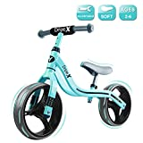 Dripex 12 Inch Baby Balance Bike Lightweight No Pedal Kids Bicycle for 2-6 Year Old Toddler Girls and Boys Green