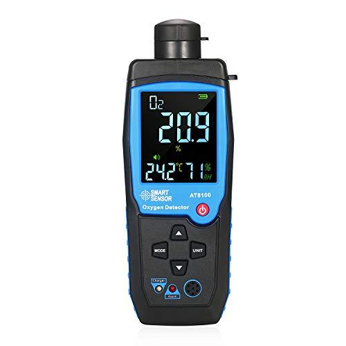 Kecheer Rilevatore di ossigeno nell aria portatile,Misuratore di ossigeno nell'aria,Rilevatore di gas di ossigeno per laboratorio e industria