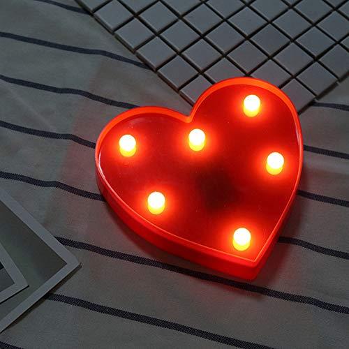 HMLIGHT LED Letters Luminous Licht 26 Alphabet 0-9 Anzahl Batterieleuchte Romantische Hochzeit Geburtstag Party Weihnachten Home Decoration,Heart