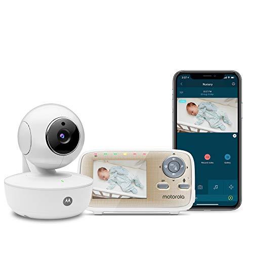 Motorola MBP669CONNECT - Monitor video per bambini, con unità genitore portatile da 2,8 cm e app Wi-Fi per smartphone e tablet
