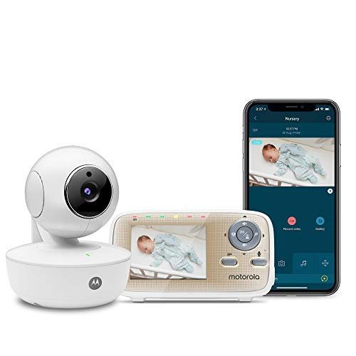 "Motorola MBP669CONNECT Video Baby Monitor with 2.8"" Handheld Parent Unit and Wi-Fi Hubble Connected App for Smartphones & Tablets"