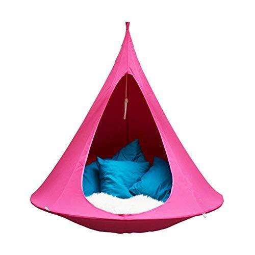 ZIXUANJIAXL - Sedia a dondolo a farfalla, per esterni, campeggio, impermeabile, per il tempo libero, con sospensione, doppia multi-persona, tenda per divano (colore: rosa, dimensioni: 100 cm x 110 cm)