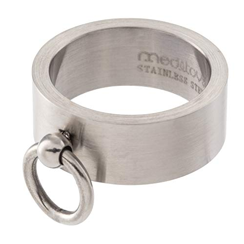 meditoys - \'Ring der O\' in Edelstahl (matt), Finger-Ring Damen Herren