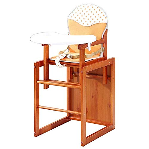 Lowest Price! Qivor Wooden High Chair with Tray.Adjustable Baby High Chair Solution for Babies and T...