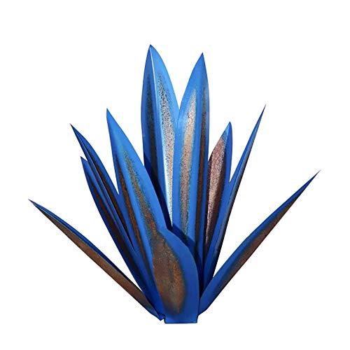 HSD Tequila - Escultura rústica para decoración del hogar, jardín, plantas, ornamento, metal, metal, planta agave, jardín, patio, decoración, estatua, altura 35 cm (A)
