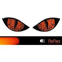 Bike Label 910067A - Pegatina Reflectante para Casco de Moto, Color Naranja