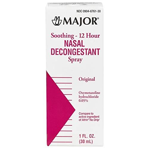 Nasal Decongestant Pump Mist Spray 12hr Oxymetazoline HCL 0.05% 30ml