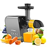Juicer Machines Slow Masticating Cold Press Juicer Vegetables and Fruits Juice Extractor, Easy to Clean Quiet Juicer, BPA-Free,with Reverse Function, High Yield for Celery Carrot Kale Ginger Home Use