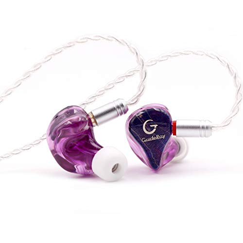 Linsoul GuideRay GR-i Series DD+BA Hybrid Dual Driver In-Ear Earphone with Detachable 2 Pin 0.78mm Cable (GR-i18 with mic)