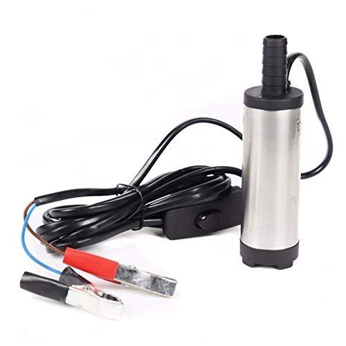 LXH-SH 12V 24V, Edelstahlschale, DC-elektrische Tauchpumpe für das Pumpende Dieselölwasser, 12L / min, Kraftstoffübertragungspumpe 12 V Volt (Voltage : 12v)