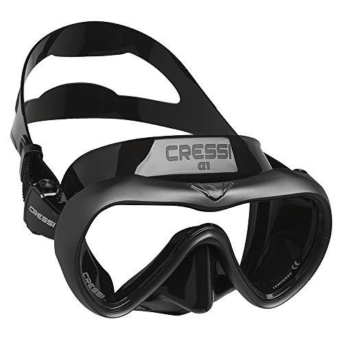 RatenKont Máscara de Buceo Anti-Niebla Profesional Scuba Snorkel Mask Máscara de Silicona para Hombres Mujeres Black Clear