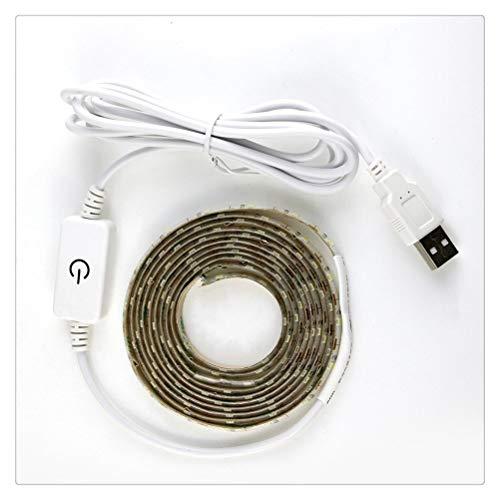 ZHUSHI 1-5M Superbrillante SMD2835 Regulable 5V Cinta LED Regulable Sensor Táctil Luz Blanca Fría/Blanca Cálida DC USB Luz con Luz Flexible, Usada para Espejo De Maquillaje, Gabinete, Cocina, Vitrin