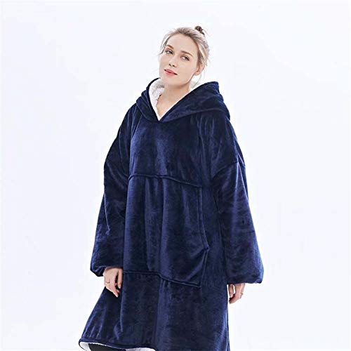 ELEAMO TV deken warme mouw deken Lazy creatieve deken flanel trui vrouwen hoofd
