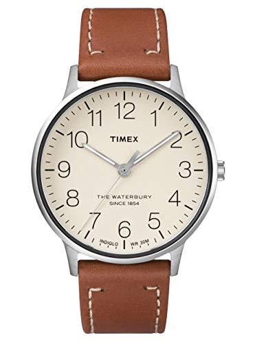Timex Reloj Analógico para Hombre de Cuarzo con Correa en Cuero TW2R25600
