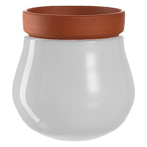 Leonardo 057770 Pot de Fleurs en céramique Blanc Diamètre 10 cm