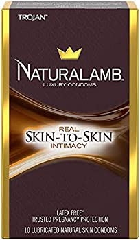 TROJAN NaturaLamb Luxury Latex-Free Condoms 10 Count