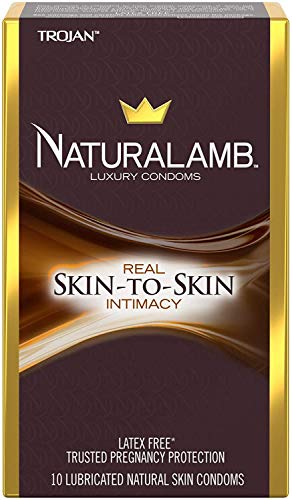 TROJAN NaturaLamb Luxury Latex-Free Condoms, 10 Count